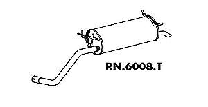 Silencioso Mégane 1.6 8V / 1.6 16V / 2.0 8V / 2.0 16V Traseiro