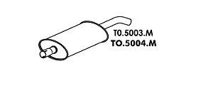 Silencioso Jeep Bandeirante Motor Mbb 90 Até 93 Intermediario Chassi Longo
