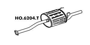 Silencioso Honda Civic 1.6 Lx 97 Até 2000 Traseiro 6204T