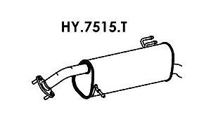 Silencioso Hb20 1.6 16V Hatch 2012 A 2014 Traseiro