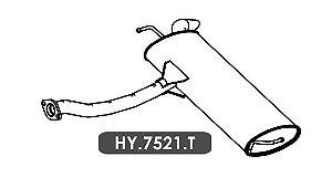 Silencioso Ix35 2.0 16V 2013 Em Diante Traseiro