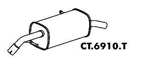 Silencioso C3 1.6 16V 2003 A 2011 Traseiro