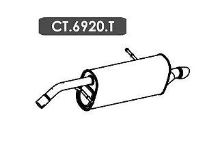 Silencioso C3 1.5 / 1.6 16V Gii 2012 Em Diante Traseiro