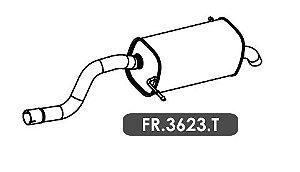 Silencioso Ecosport 1.6 16V Motor Sigma Gii 2013 Em Diante Traseiro