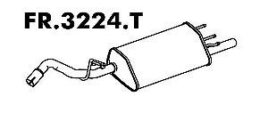 Silencioso Escort/ Sw 1.8 16V Zetec 97 A 2003 / 1.6 16V 2000 A 2003 Traseiro