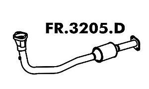 Tubo  Do Motor Com Catalisador Silencioso Escort/ Sw 1.8 16V Zetec 97 A 2003 / 1.6 16V 2000 A 2003