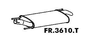 Silencioso Fiesta 1.0 / 1.3 04/96 A 08/97 Motor Endura Traseiro