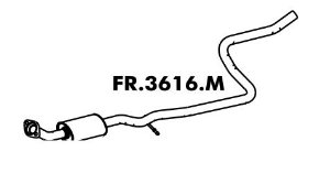 Silencioso Fiesta Hatch / Sedan 1.0 8V / 1.6 8V Zetec Rocam 2009 A 2014 Intermediario