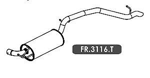 Silencioso Focus 1.6 16V / 2.0 16V Hatch / Sedan 2010 A 2013 Traseiro