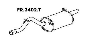 Silencioso Ka 1.0 / 1.3 97 Até 07/99 Motor Endura Traseiro