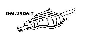 Silencioso Astra Sedan 2.0 8V 2002 / 2008 Traseiro