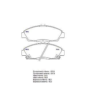 Pastilha De Freio Honda Acord / Prelude