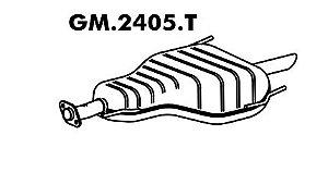 Silencioso Astra 2.0 16V 98 A 2006 Hatch / Sedan Traseiro