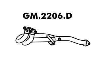 Tubo Saida Do Motor Astra Hatch 2.0 95 Até 97 Importado
