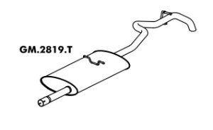Silencioso Blazer 2.2 / 2.4 Gasolina 12/99 A 2007 Traseiro