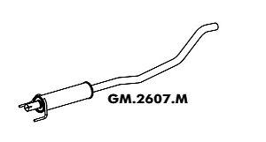 Silencioso Corsa 1.0 8V / 1.4 8V Hatch / Sedan Flex 09/2005 A 2012 Gii Intermediario