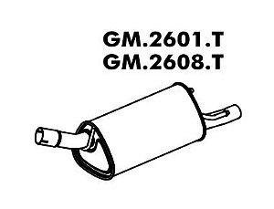 Silencioso Corsa 1.0 Hatch / Sedan / Sw 8V 93 A 11/2004 Traseiro