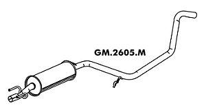 Silencioso Corsa Pick-Up 1.6 8V 95 A 2003 Intermediario