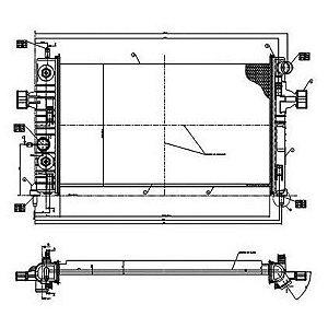Radiador Agua C/ Ar Astra / Vectra / Zafira