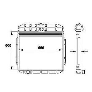 Radiador Agua Ford F11000