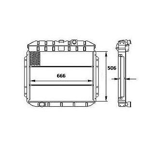 Radiador Agua Ford F1000 / F2000 / F4000