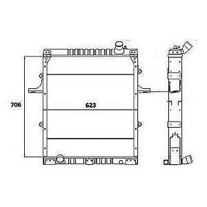 Radiador Agua  Volkswagen (Vw) 17210 Caminhao Std 4.3 8V Mwm 4.10 Serie 10