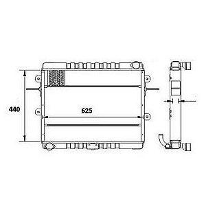 Radiador Agua Volkswagen (Vw) 8140 Caminhao Std 4.3 8V Mwm 4.10 Serie 10