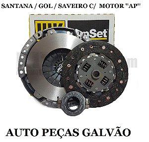 Kit Embreagem Gol - 200Mm/24 Estrias Plato/Disco/Rolamento 6203044000 Luk