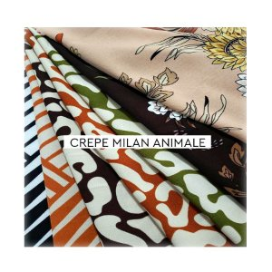 Crepe Milan Animale
