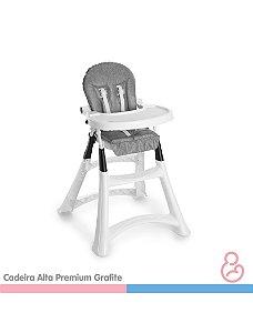 Cadeira Alta Premium Refeição - Grafite - Galzerano