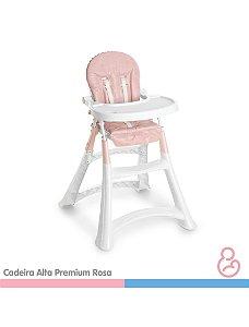 Cadeira Alta Premium Refeição - Rosa - Galzerano