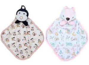Kit com 2 Naninhas Suedine  - Rosa - Anjos Baby