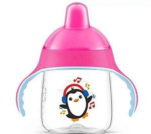 Copo Pinguim 260ml - Rosa - Philips Avent