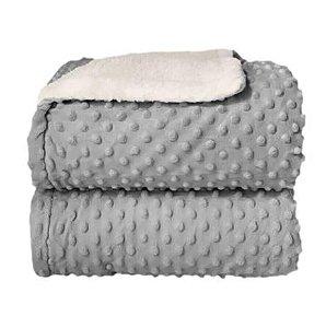 Cobertor Sherpam Dots - Cinza Glacial - Laço Bebê