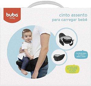 Cinto Assento para Carregar Bebê - Preto - Buba Baby