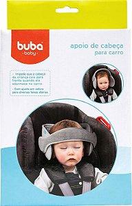 Apoio de Cabeça para Assento de Carro - Cinza - Buba