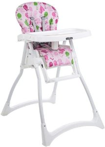 Cadeira Refeição Merenda - Passarinho rosa - Burigotto
