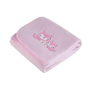 Manta Fleece - Coleção Mini - Rosa - Lepper