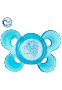 Chupeta Comfort 6-12m - Elefantinhos - Azul - Chicco