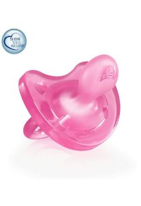 Chupeta Soft 6-12m - Rosa - Chicco
