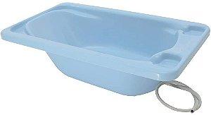 Banheira Avulsa Rígida Plastico - Azul Pastel - Galzerano
