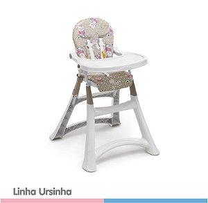 Cadeira Alta Premium Refeição - Ursinha - Galzerano