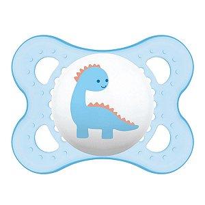 Chupeta Original Coleção Trends 0-6 m - Dinossauro Azul - MAM