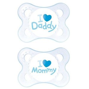 Chupeta Mom & Dad 0-6m - Azul - 2 un - MAM