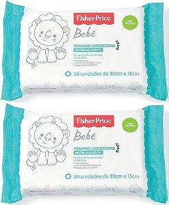 Kit Toalhas Umedecidas Recém-Nascidos - 2 un - Fisher Price