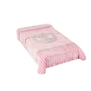 Cobertor Hipoalérgico Le Petit - Preguiça Rosa - Colibri