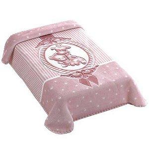Cobertor Hipoalérgico Premium - Camafeu Rosa - Colibri