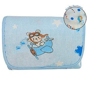 Trocador de Fraldas Portátil - Azul - Bambi