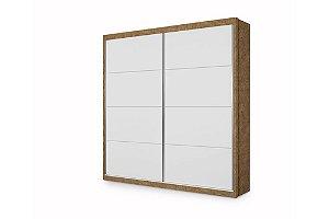 Guarda roupa Premium Plus - Porta De Correr - Branco Com Amêndoa - Planet Baby