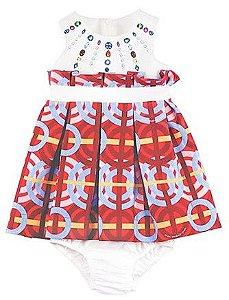 Vestido com Calcinha e Zíper Invisível - Vermelho - 1+1